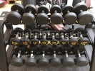 Dumbell Fixed Rubber 2,5 kg s/d 25 kg (Import)