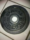 Cast iron plate 2,5 Global Fitness kg lubang 3 cm