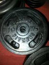 Cast iron plate Global Fitness 10 kg lubang 3 cm
